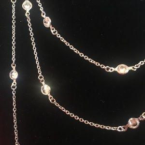 Alainn long necklace with crystals
